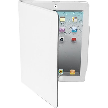 Premiertek LC-IPAD3-W Leather Folio Case for Apple iPad 2/3, White