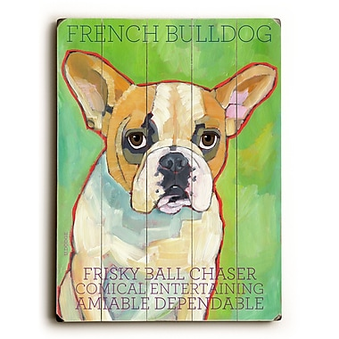 Artehouse LLC French Bulldog by Ursula Dodge Graphic Art Plaque