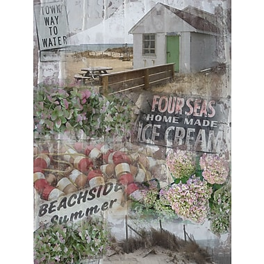Graffitee Studios Coastal Beachside Summer Graphic Art on Wrapped Canvas
