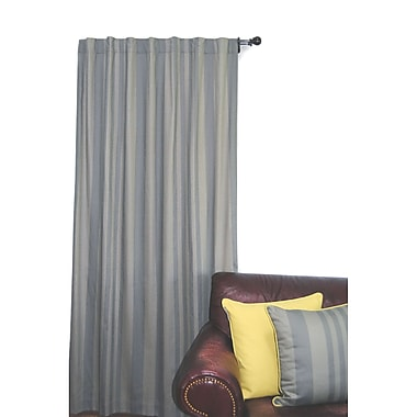 EZ Living Home Tonal Stripe Solid Semi-Sheer Tab Top Curtain Panel