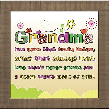 Artistic Reflections 'Grandma. A Heart That's Made of Gold' by Brett West Framed Graphic Art