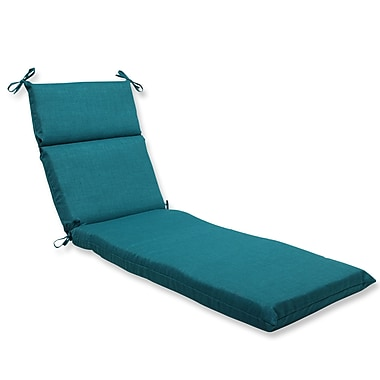 Pillow Perfect Rave Outdoor Chaise Lounge Cushion; Teal