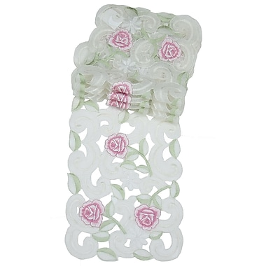 Xia Home Fashions Dainty Rose Traycloth (Set of 4)