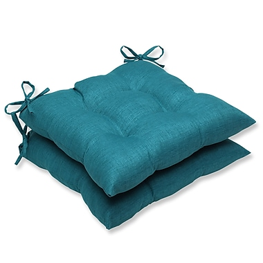 Pillow Perfect Rave Outdoor Dining Chair Cushion (Set of 2); Teal