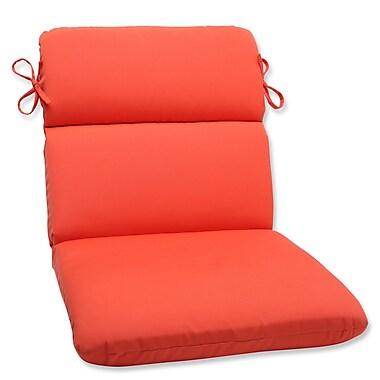 Pillow Perfect Canvas Outdoor Sunbrella Lounge Chair Cushion; Melon