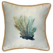 Betsy Drake Interiors Coastal Coral Indoor/Outdoor Throw Pillow