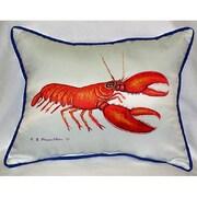 Betsy Drake Interiors Coastal Lobster Indoor/Outdoor Lumbar Pillow