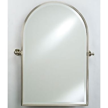 Afina Radiance Gear Tilt Arch Top Mirror; Polished Brass