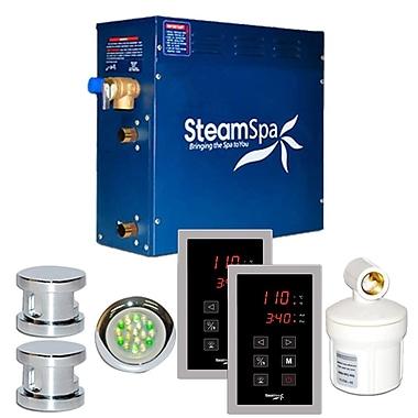Steam Spa SteamSpa Royal 12 KW QuickStart Steam Bath Generator Package in Polished Chrome