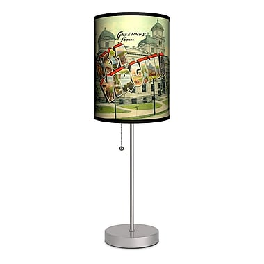Lamp-In-A-Box Travel West Virginia Postcard 20'' Table Lamp