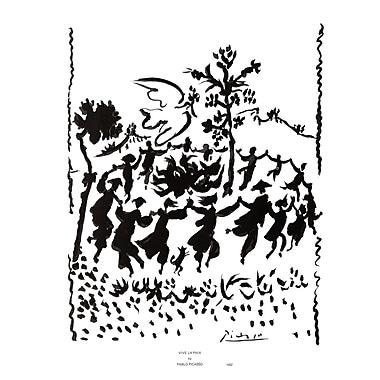 Evive Designs Vive la Paix by Pablo Picasso Painting Print