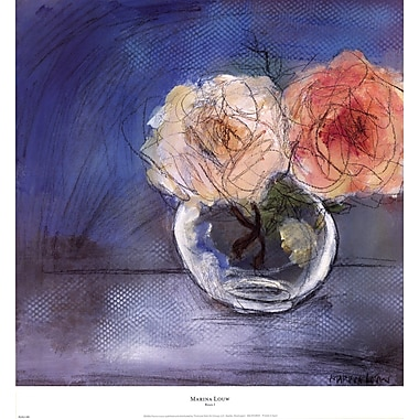 Evive Designs Roses I by Marina Louw Painting Print