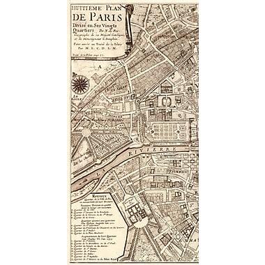 Evive Designs Plan de la Ville de Paris, 1715 by N De Fer Graphic Art