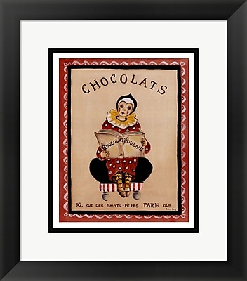Evive Designs Chocolats by Katharine Gracey Framed Vintage Advertisement
