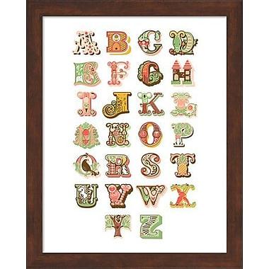 Evive Designs Alphabet Framed Art