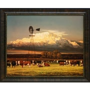 Artistic Reflections Summer Pastures by Bonnie Mohr Framed Painting Print