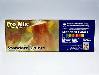 Weber Art JOHN SANDEN PRO MIX STANDARD COLOR OIL COLOR SET WYF078276394201