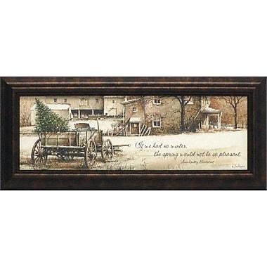 Artistic Reflections Winter Glittered by John Rossini Framed Painting Print