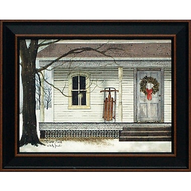 Artistic Reflections Winter Porch by Billy Jacobs Framed Painting Print