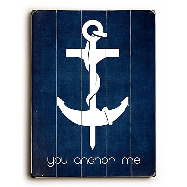 Artehouse LLC You Anchor Me by Cheryl Overton Graphic Art Plaque
