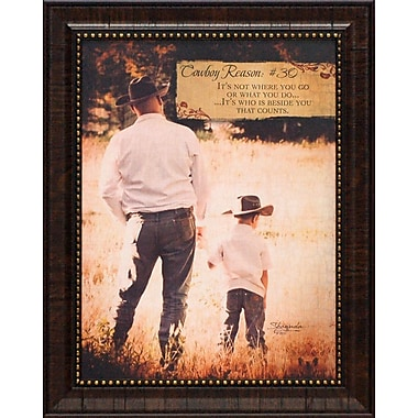 Artistic Reflections Cowboy Reason #30 by Eva, Shawnda Framed Graphic Art