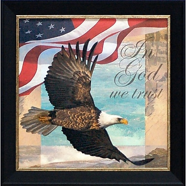 Artistic Reflections In God We Trust by Todd Williams Framed Graphic Art