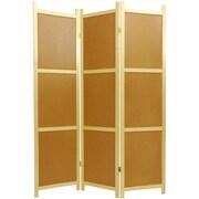 Oriental Furniture 72'' x 42'' Cork Board 3 Panel Room Divider