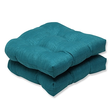 Pillow Perfect Rave Outdoor Loveseat Cushion (Set of 2); Teal