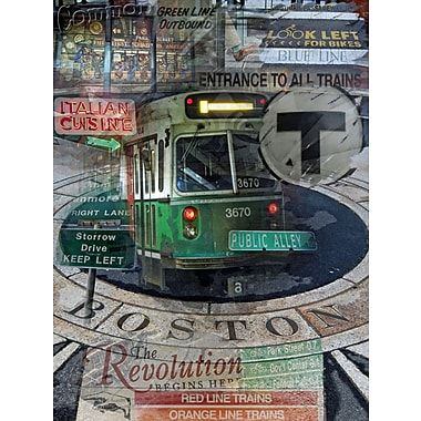 Graffitee Studios Boston Public Alley Graphic Art on Wrapped Canvas