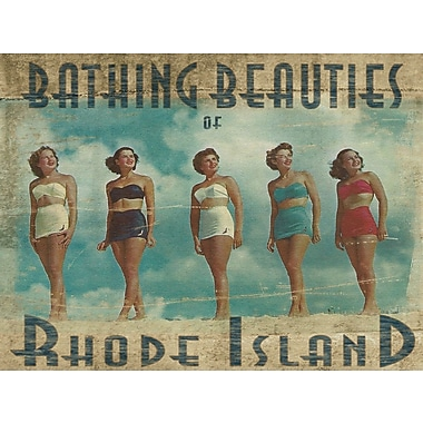 Graffitee Studios Rhode Island Bathing Beauties of Rhode Island Graphic Art on Wrapped Canvas