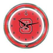 Wave 7 NCAA 14'' Team Neon Wall Clock; North Carolina State