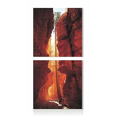 Artistic Bliss Vertical Cave 2 Piece Framed Photographic Print Set