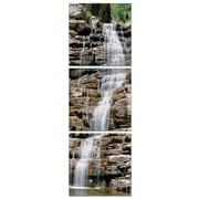 Artistic Bliss Vertical Waterfalls 3 Piece Framed Photographic Print Set