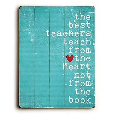 Artehouse LLC Best Teachers by Cheryl Overton Textual Art Plaque