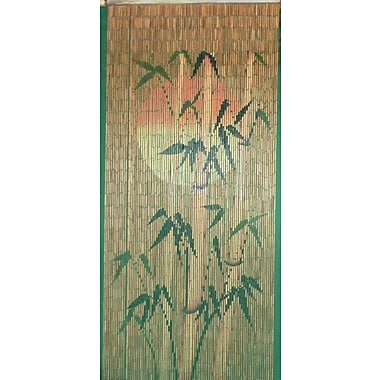 Bamboo54 Sun Bamboo Silhouette Graphic Print & Text Semi-Sheer Single Curtain Panel
