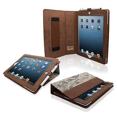 Snugg Leather Flip Stand Cover Case With Elastic Strap For Apple iPad 2, Camouflage