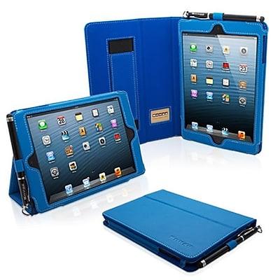 Snugg Leather Flip Stand Cover Case With Elastic Strap For iPad Mini/Mini 2 Retina, Electric Blue