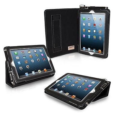 Snugg Leather Flip Stand Cover Case With Elastic Strap For iPad Mini/Mini 2 Retina, Black