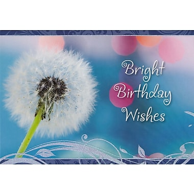Greeting Cards, Bright Birthday Wishes, 18/Pack