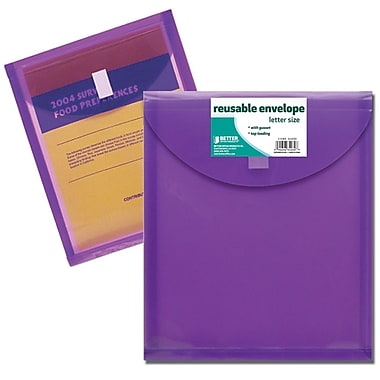 Better Office Products Letter Size, Top Load Reusable Envelope (34030-V)