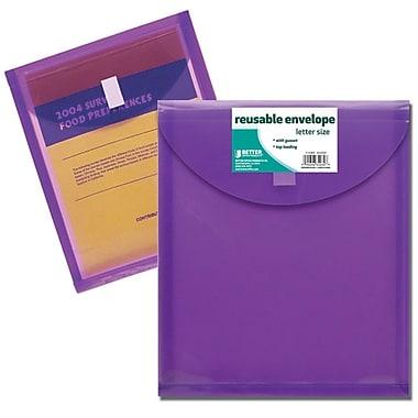 Better Office Products – Enveloppes réutilisables à chargement par le haut, format lettre (34030-V)