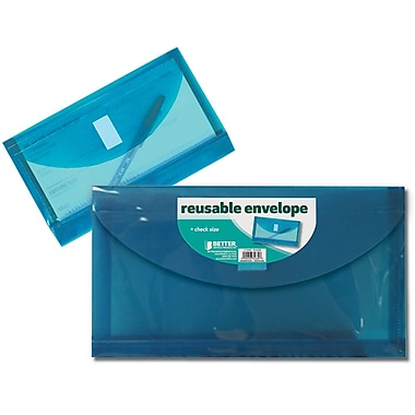 Better Office Products Reusable Envelope, Check Size (34630-V)