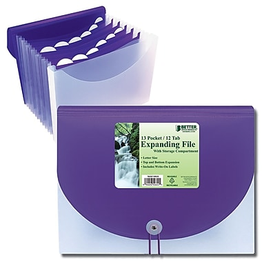 Better Office Products Letter Size Expanding File, 13-Pocket (50624)