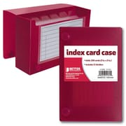 """Better Office Products Index Card Case 3"""" x 5"""""""
