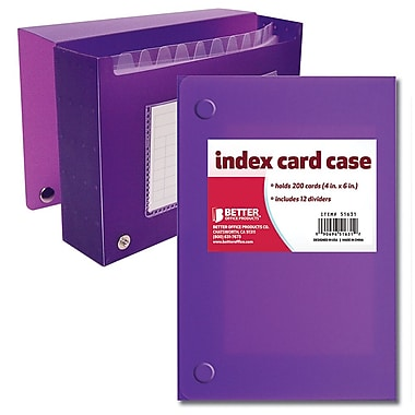 Better Office Products Frosted Index Card Case, 4