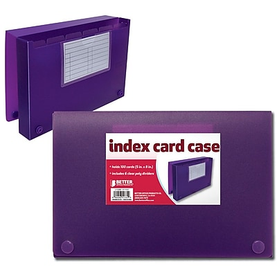 """""""""""Better Office Products Index Card Case 5"""""""""""""""" X 8"""""""""""""""""""""""""""" 1037074"""