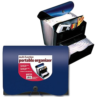 Better Office Products Elastic Multi Function Expanding File