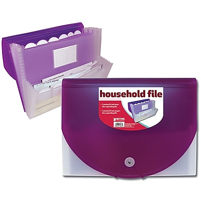 Better Office Products Expanding Home File; 8/Pack