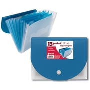 """Better Office Products Pocket File 13"""" Frosted,"""