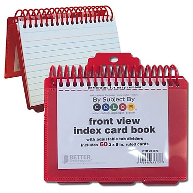 Better Office Products Index Card Binder & Notebook (61373)